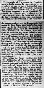 """Retall de Premsa """"La Publicidad""""  any 1909"""