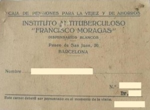 "Cartilla dispensaris blancs ""Francisco Moragas"" 1947"